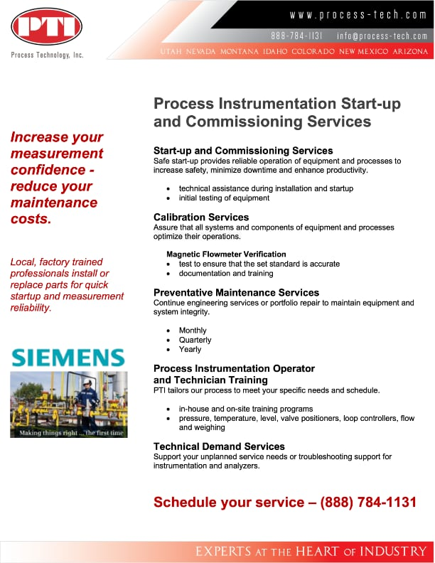 Process Instrumentation Field Service